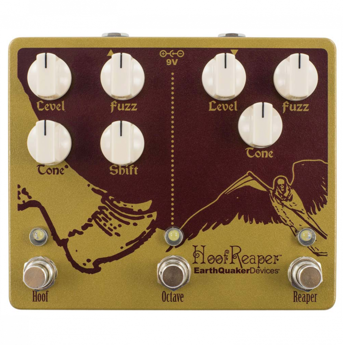 EarthQuaker - Hoof Reaper - Double Fuzz with Octave Up-Top