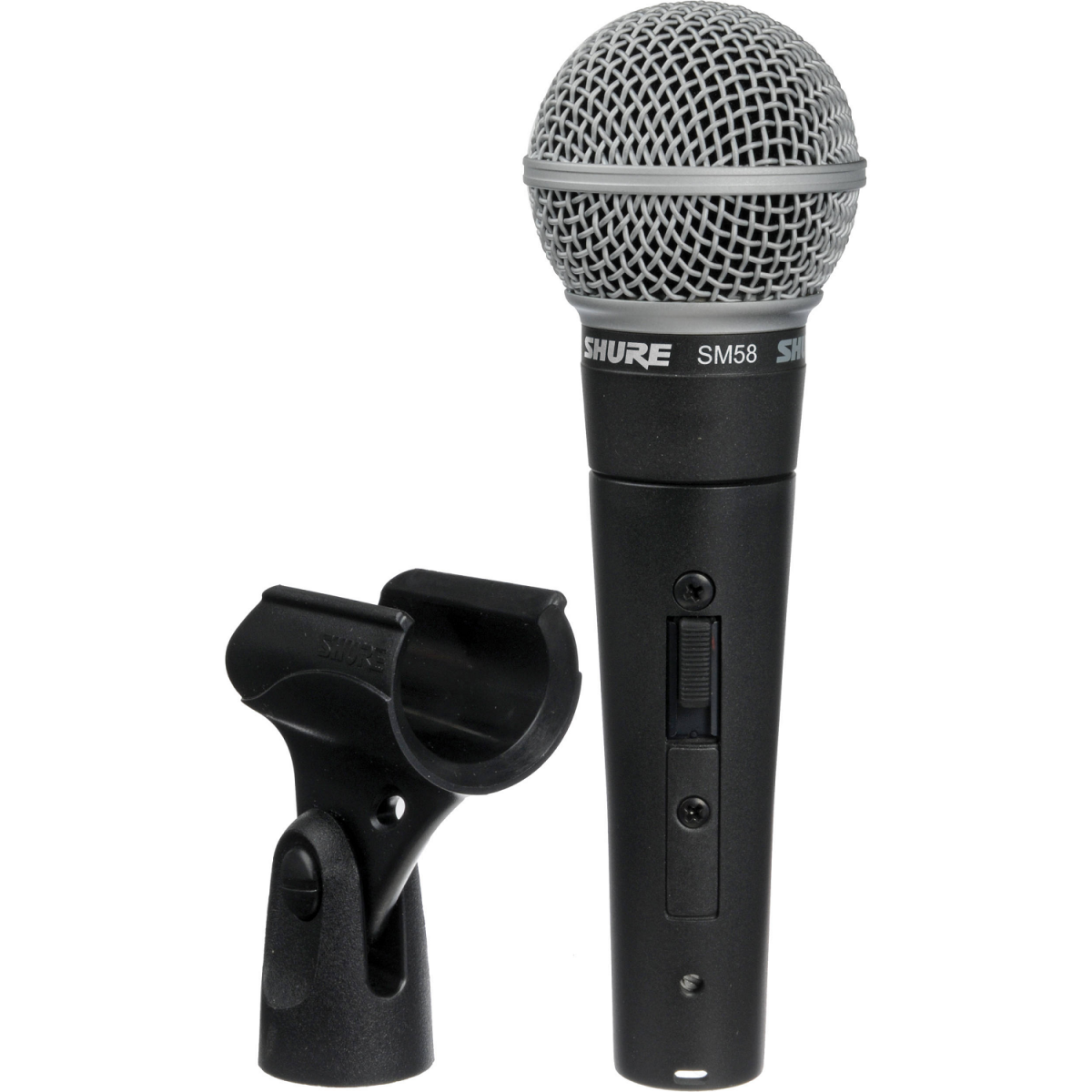 Shure SM58s with holder