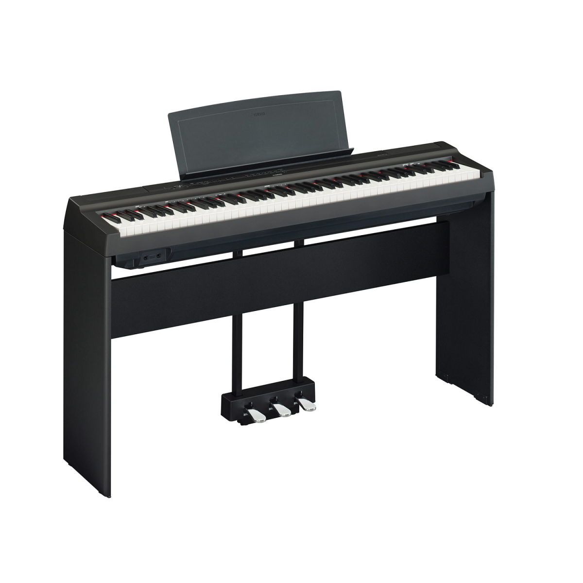 Yamaha P-125 with stand and pedals side