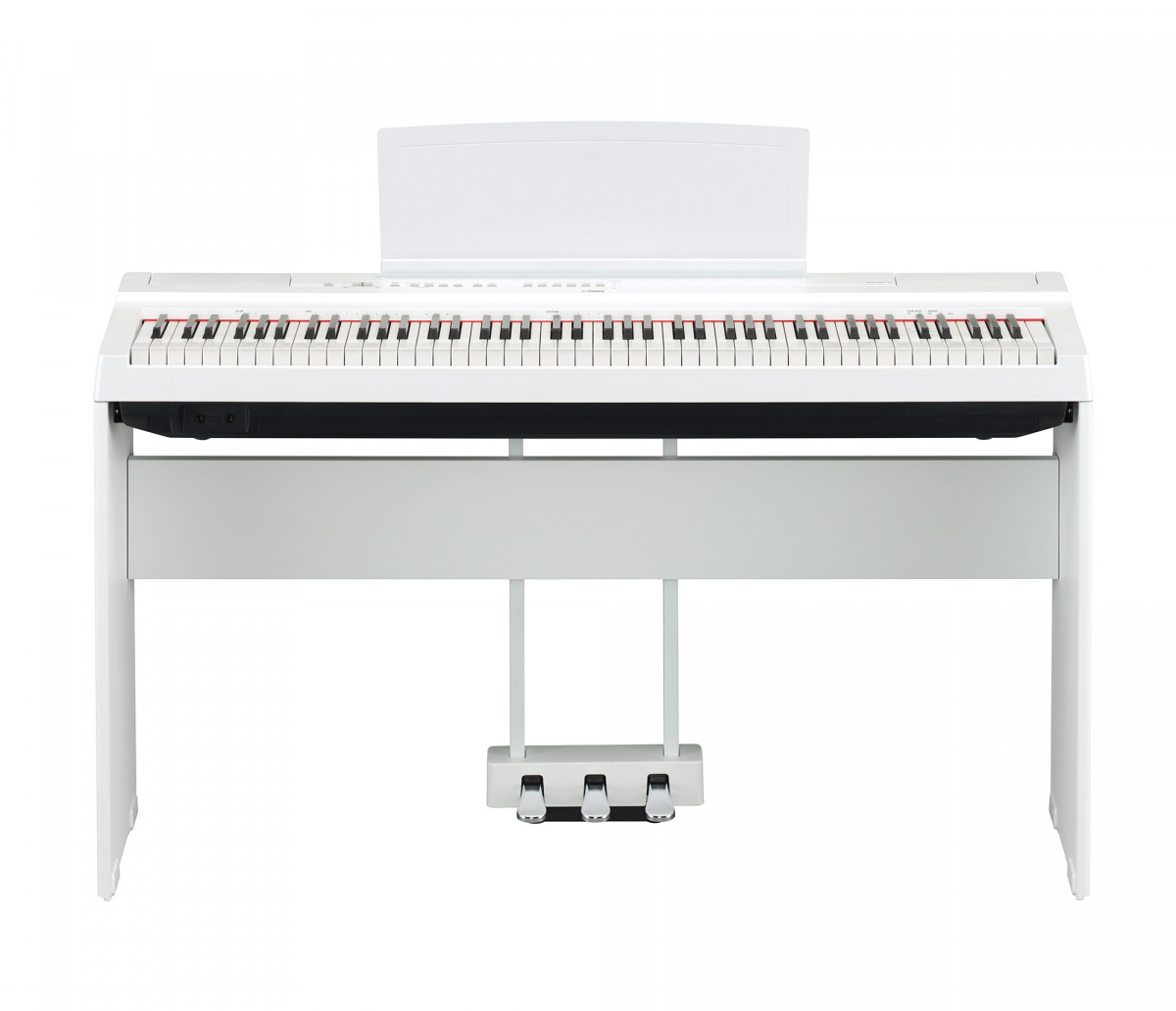 Yamaha P-125 white with stand and pedals