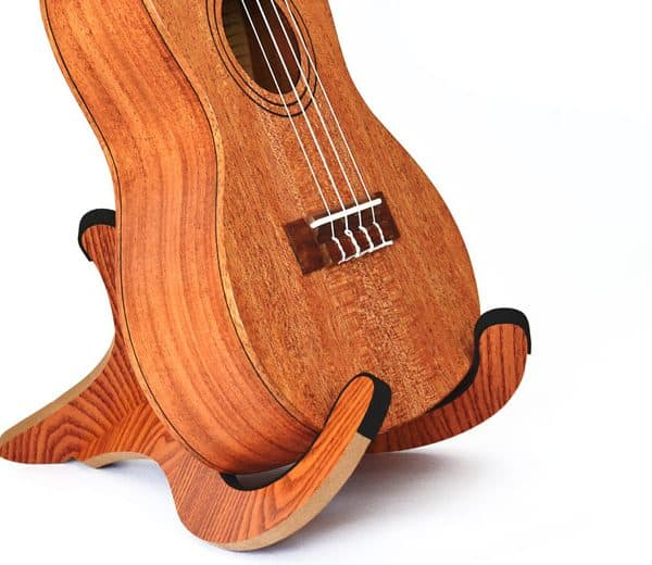 Twisted Wood Guitar Stand for Ukulele angle
