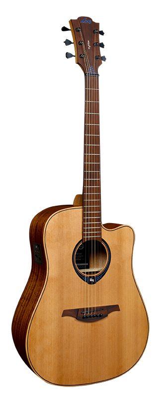 LAG Guitars Tramontane Hyvibe 10 Satin Smart Guitar - THV10DCE