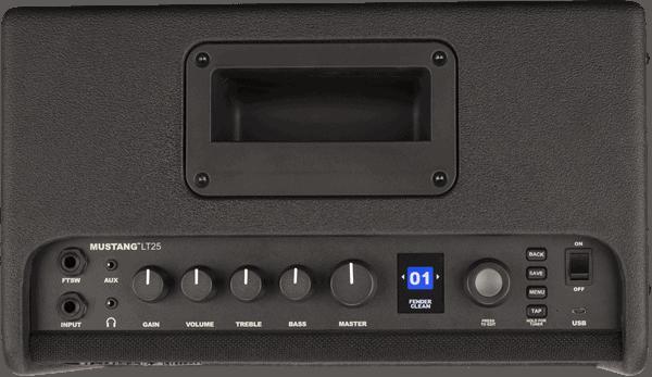 Fender Mustang Lt25 amplifier 2311100000 dessus