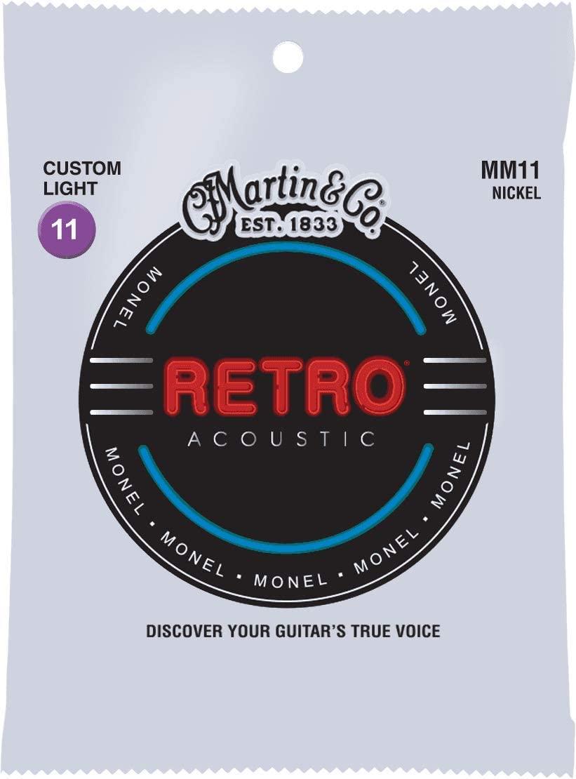 Martin MM11 retro acoustic guitar strings