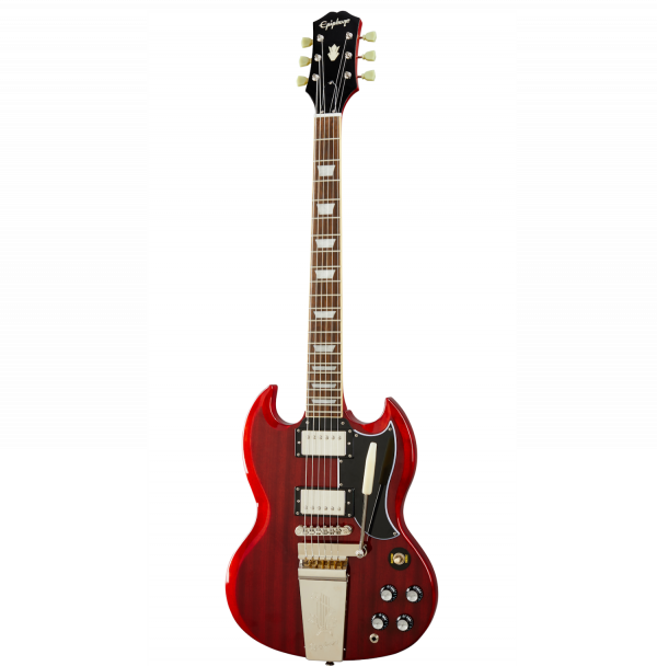 Epiphone 1961 SG Standard with Maestro Trem - Vintage Cherry - EISS61MVCNH