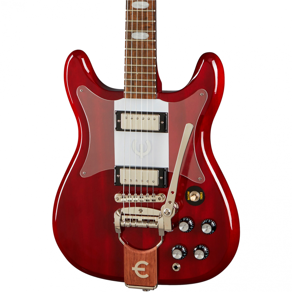 Epiphone Crestwood Custom with Tremotone Tailpiece - Cherry - EOCCCHNH-front2