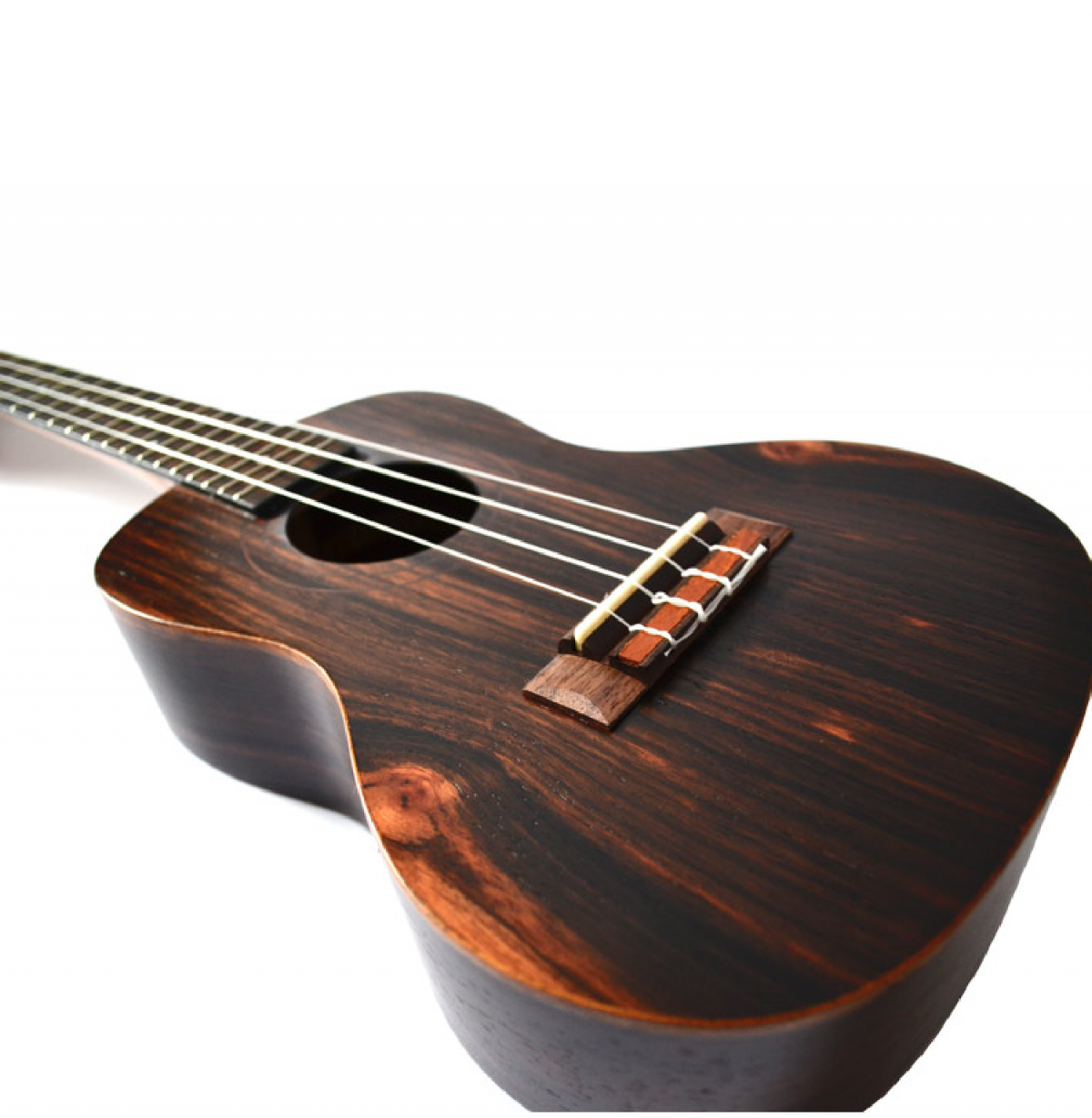 Twisted Wood Dorado Tenor Ukulele - DO300T angle