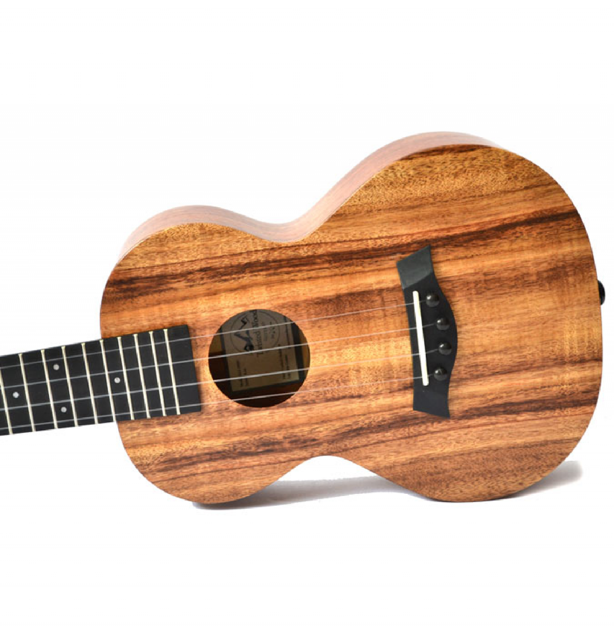 Twisted Wood Koa Ukulele - KO1000 side