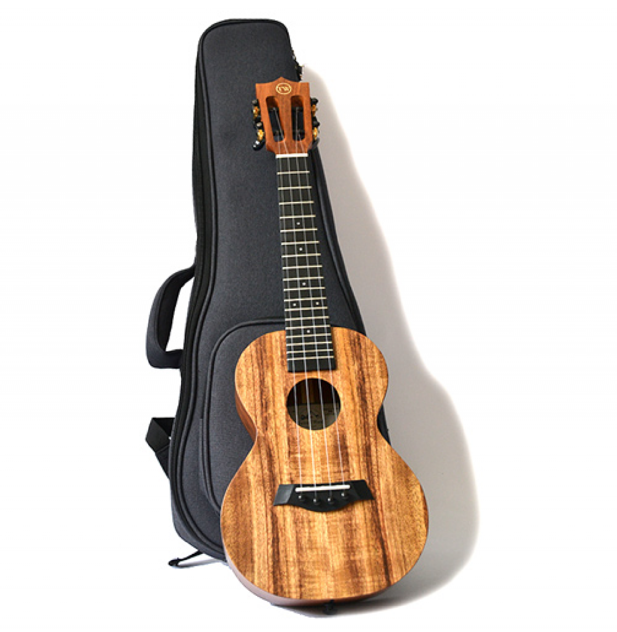 Twisted Wood Koa Ukulele - KO1000 with gig bag