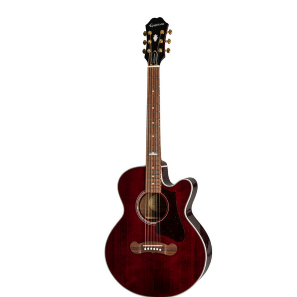 Epiphone J-200EC Studio Parlor - Wine Red - MJ200CEWRGH