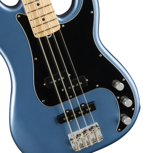 Fender American Performer Precision Bass - Satin Lake Placid Blue - 0198602302-front2