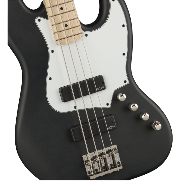 Squier Contemporary Active Jazz Bass HH - Flat Black - 0370450510-front3