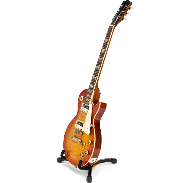 Hercules GS402BB Mini Electric Guitar Stand with guitar