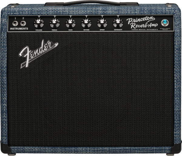 Fender 65 PRINCETON CHILEWICH DENIM front