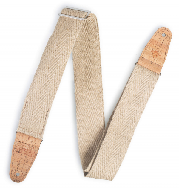 Levy's - CLASSIC SERIES - Hemp Guitar Strap with Natural Cork Ends – MH8PNAT