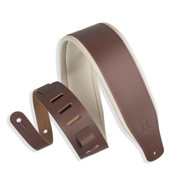Levy's Classics Series Favorite Padded Two-Tone Leather Brown- Cream – M26PDBRNCRM
