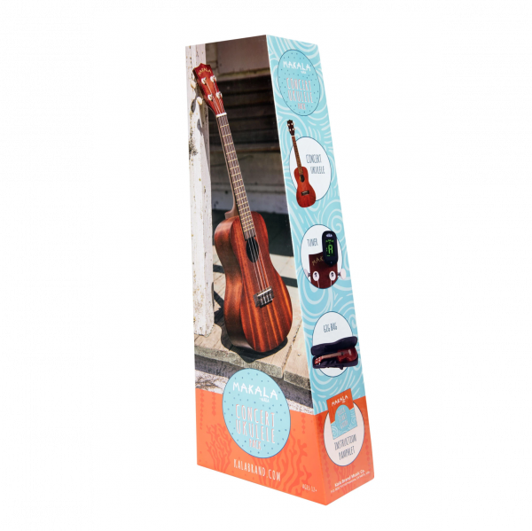 Makala - Concert Ukulele Pack with Bag and Tuner - CPACK