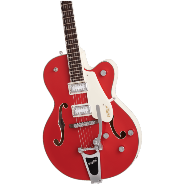 Gretsch - G5410T Limited Edition Electromatic Tri-Five Hollow Body Single-Cut with Bigsby - Rosewood Fingerboard - Two-Tone Fiesta Red-Vintage White-front2