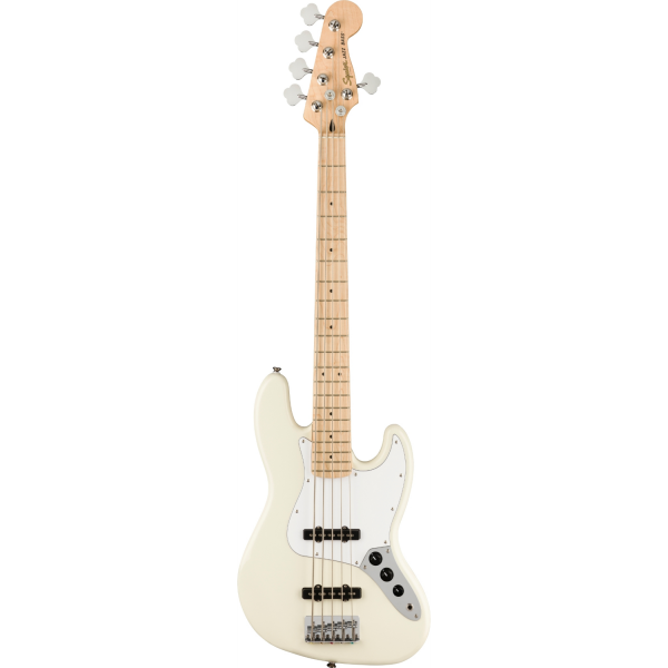Squier - Affinity Series - Jazz Bass V - Olympic White - 0378652505
