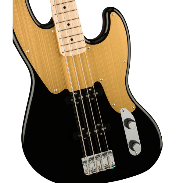Squier - Paranormal Jazz Bass 54- Gold Anodized Pickguard – Black - 0377100506-front2