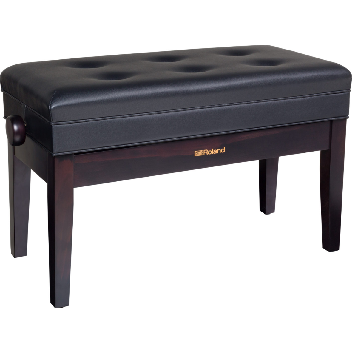 1Roland - Duet Piano Bench with Storage Compartment - Rosewood - RPBD400RW