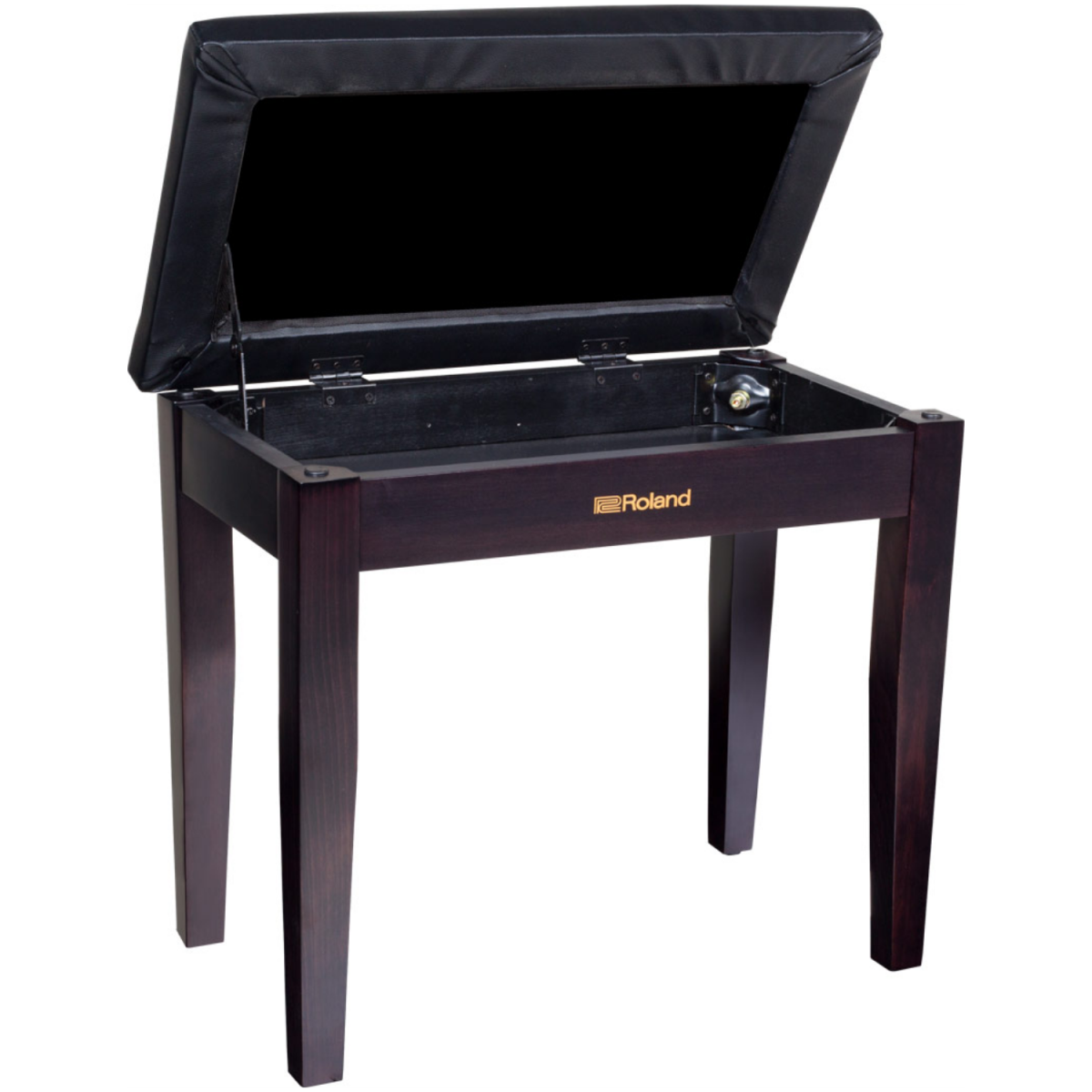 Roland - Piano Bench with Storage Compartment - Rosewood - RPB100RW-open