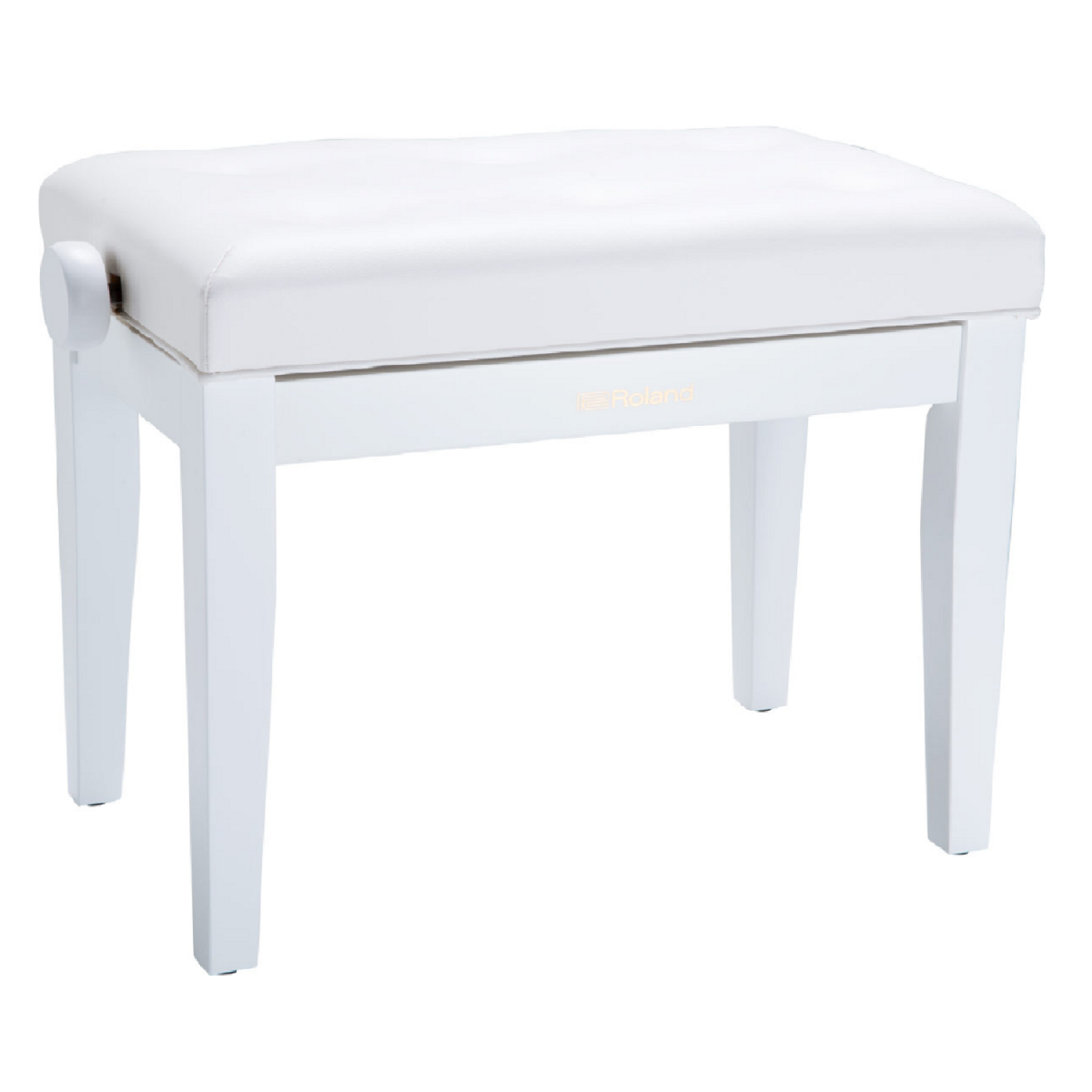 Roland - Piano Bench with Cushioned Seat - Satin white - RPB300WH