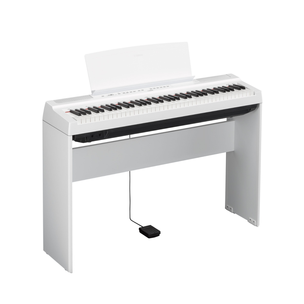 Yamaha P121WH Set - Portable Digital Piano 73-Key with Stand - White