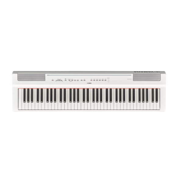 Yamaha P121WH Set - Portable Digital Piano 73-Key with Stand - White-top