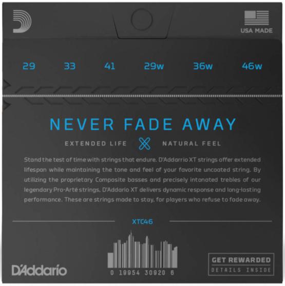 D'Addario XTC46 back