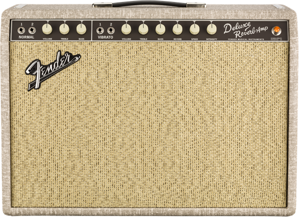 Fender 65 Deluxe Reverb Fawn Greenback - 0217400972 front